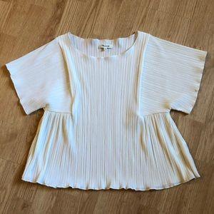 Madewell pleated short sleeve top